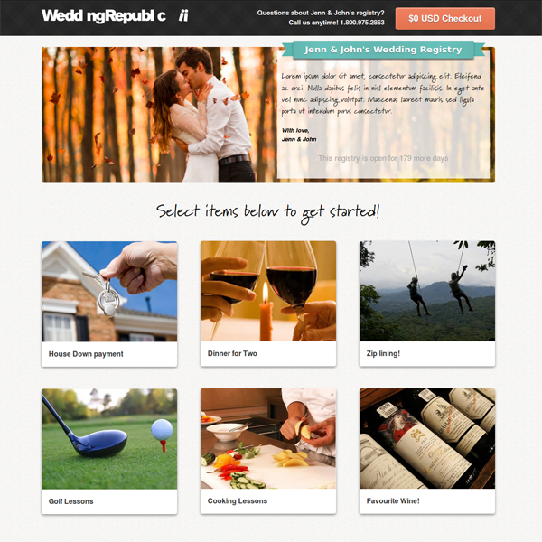 Building Your Dream Registry With Wedding Republic With Images Online Wedding Registry Wedding Gift Registry Cash Wedding Registry