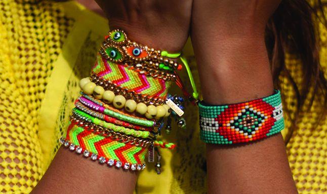 Kim & Zozi Neon Friendship Bracelets