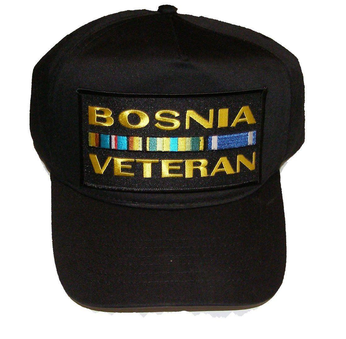 fb25b4dfa Bosnia Veteran w/Ribbons Black Hat Bosnia Veteran w/Ribbons Black ...