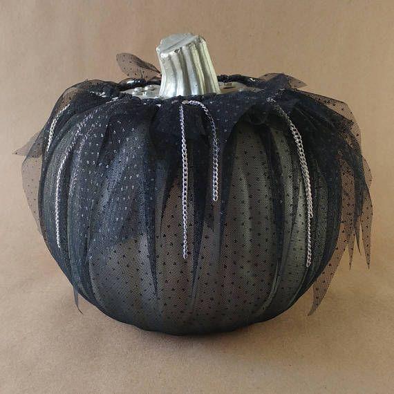 Metallic Silver Gothic Punk Pumpkin Halloween Decoration Halloween - decorate halloween bags