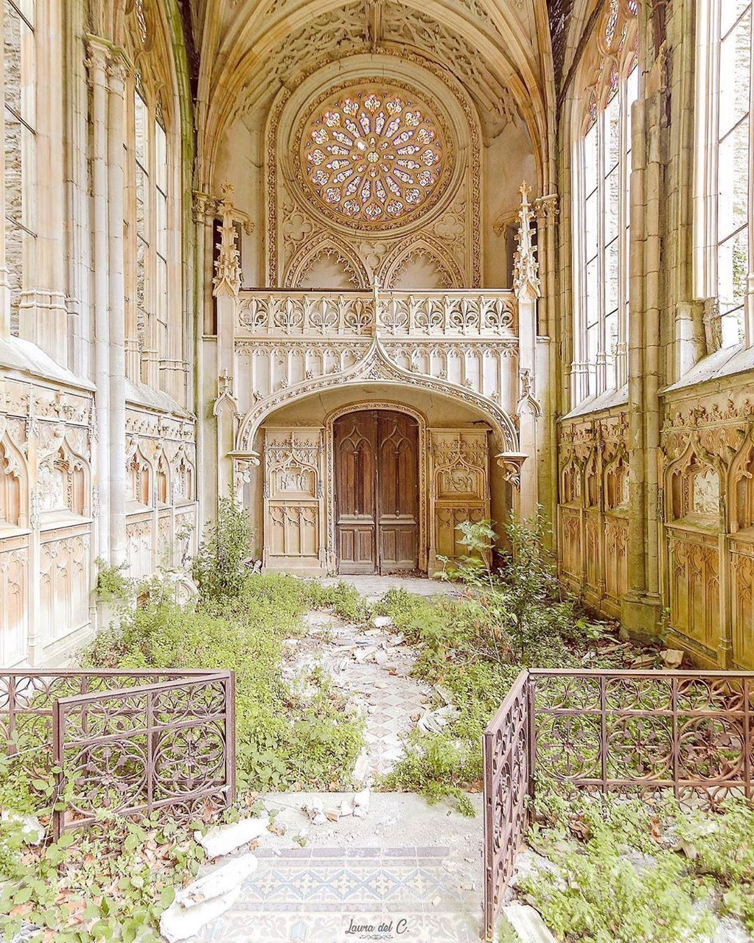 """Beautiful Abandoned Places on Instagram: """"Overgrown church in France by @laura.delc"""" #overgrownaesthetic"""