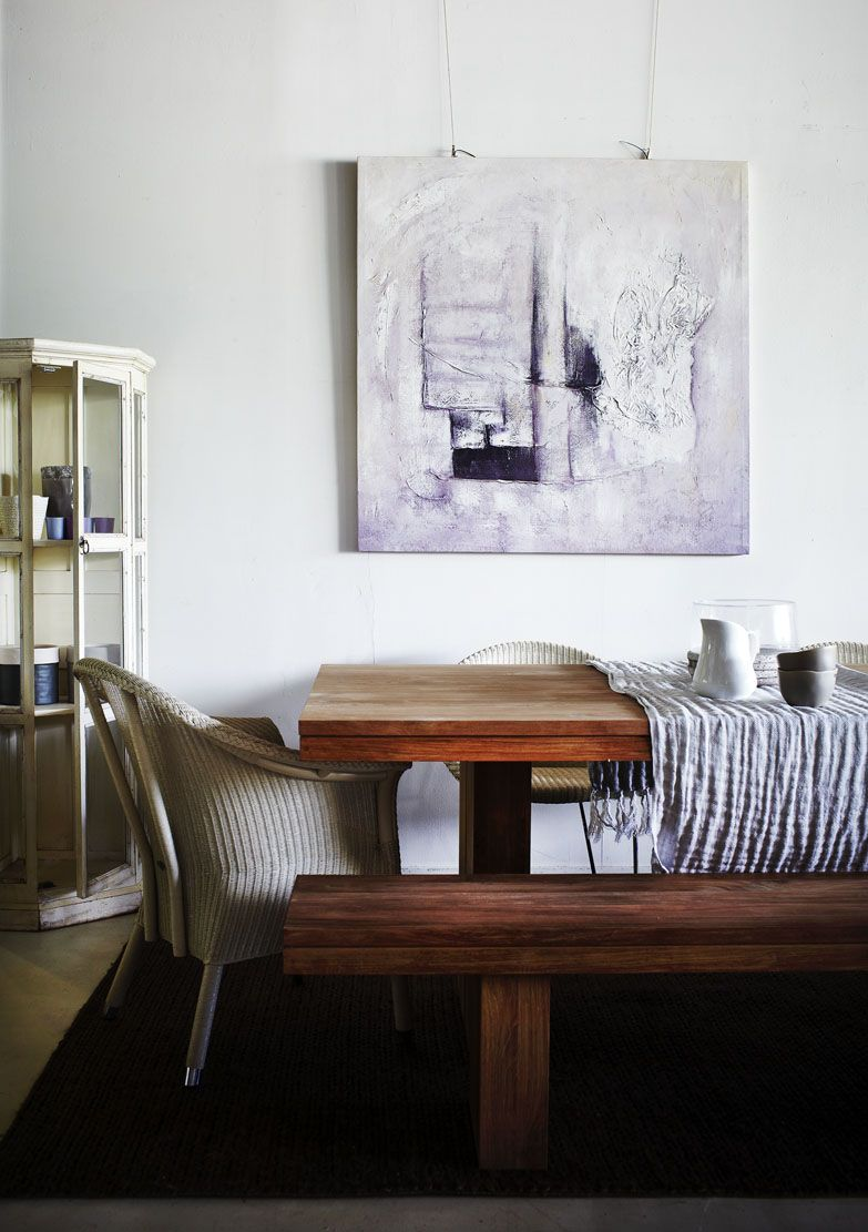 Teak Dining Table & Bench, with Vincent Sheppard Victor Chair ...