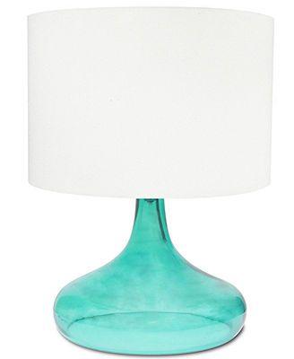 Macys com integrity aqua opal glass table lamp