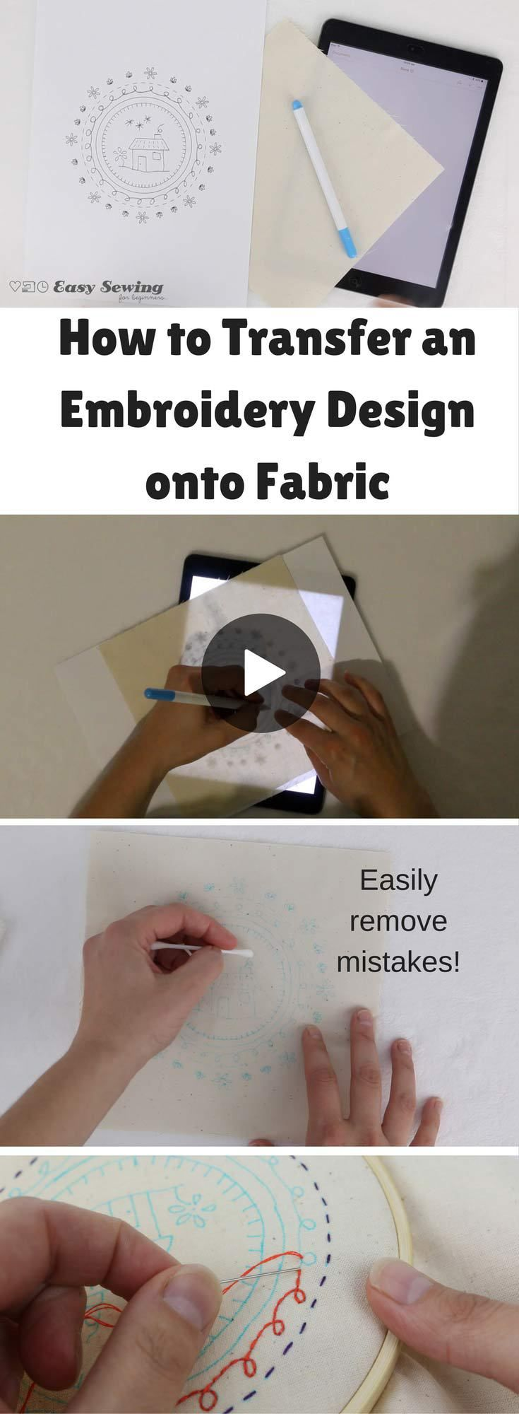 How To Transfer Pattern To Fabric New Inspiration Design
