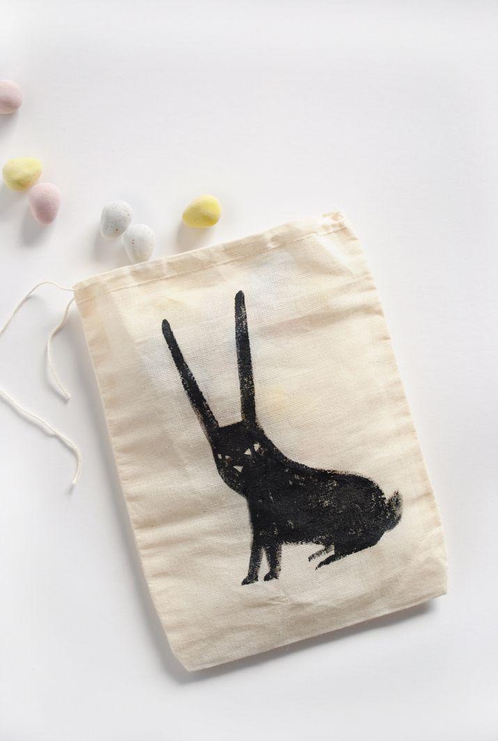 Mer Mag: Bitty Black Bunny Treat Bag
