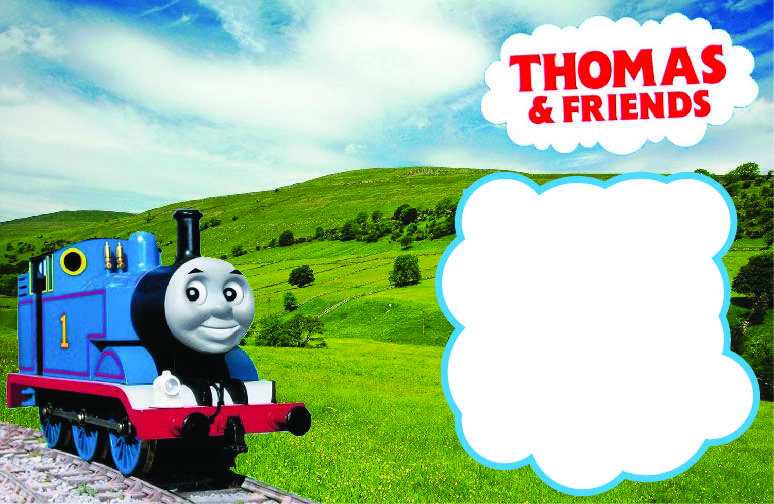 Nice Free Printable Thomas Friends Birthday Invitation Template