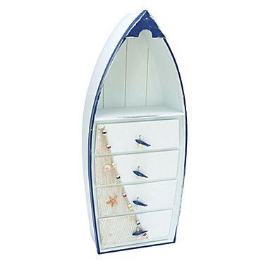 Woodland Imports Boat 4 Drawer Cabinet