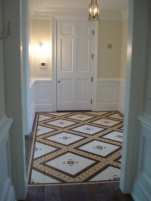 Gorgeous Hand Painted Designer Floors by Billet Collins | Simplified BeeSimplified Bee