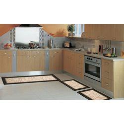 Tapetes 3 unidades Sisal Look de Cozinha Clássico - Rayza