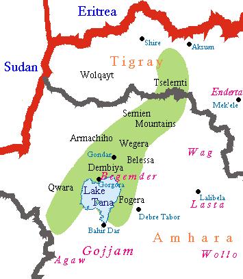 The Area Of Beta Israel Jewish Community - Beta Israel