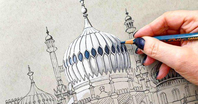 Ilustradora británica realiza dibujos arquitectónicos que resaltan la belleza de los edificios
