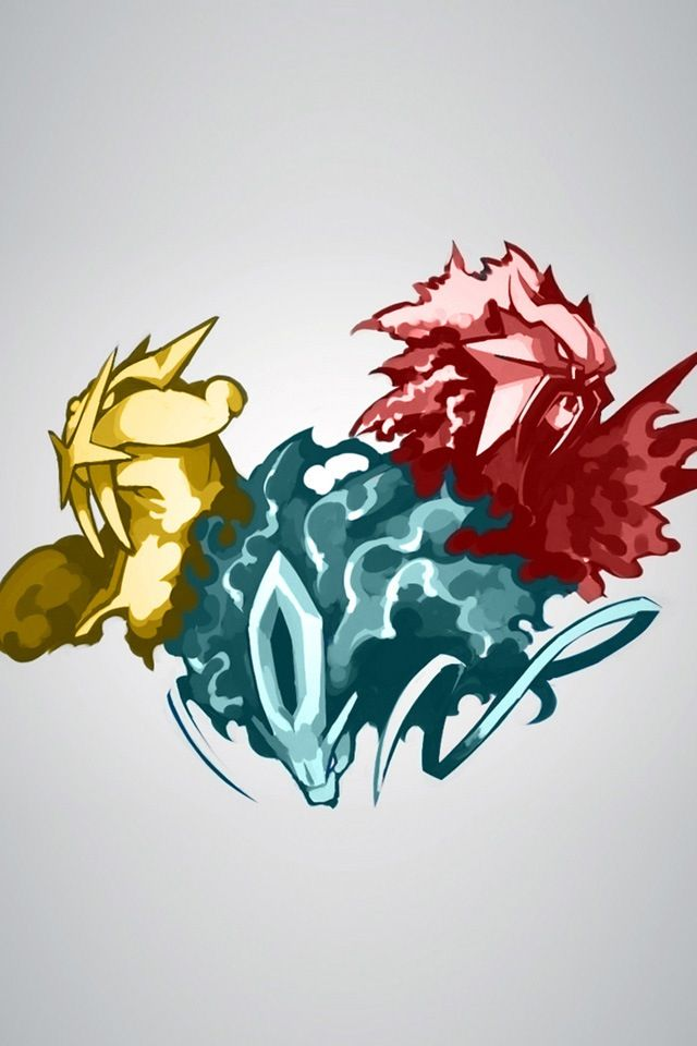 Pokemon Artwork Wallpaper Legendary Entei Raikou Suicune ...