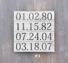 Wall Decor Signs For Home Fair Important Date Sign 5Th Anniversary Gift Rustic Wood Plank Sign Review