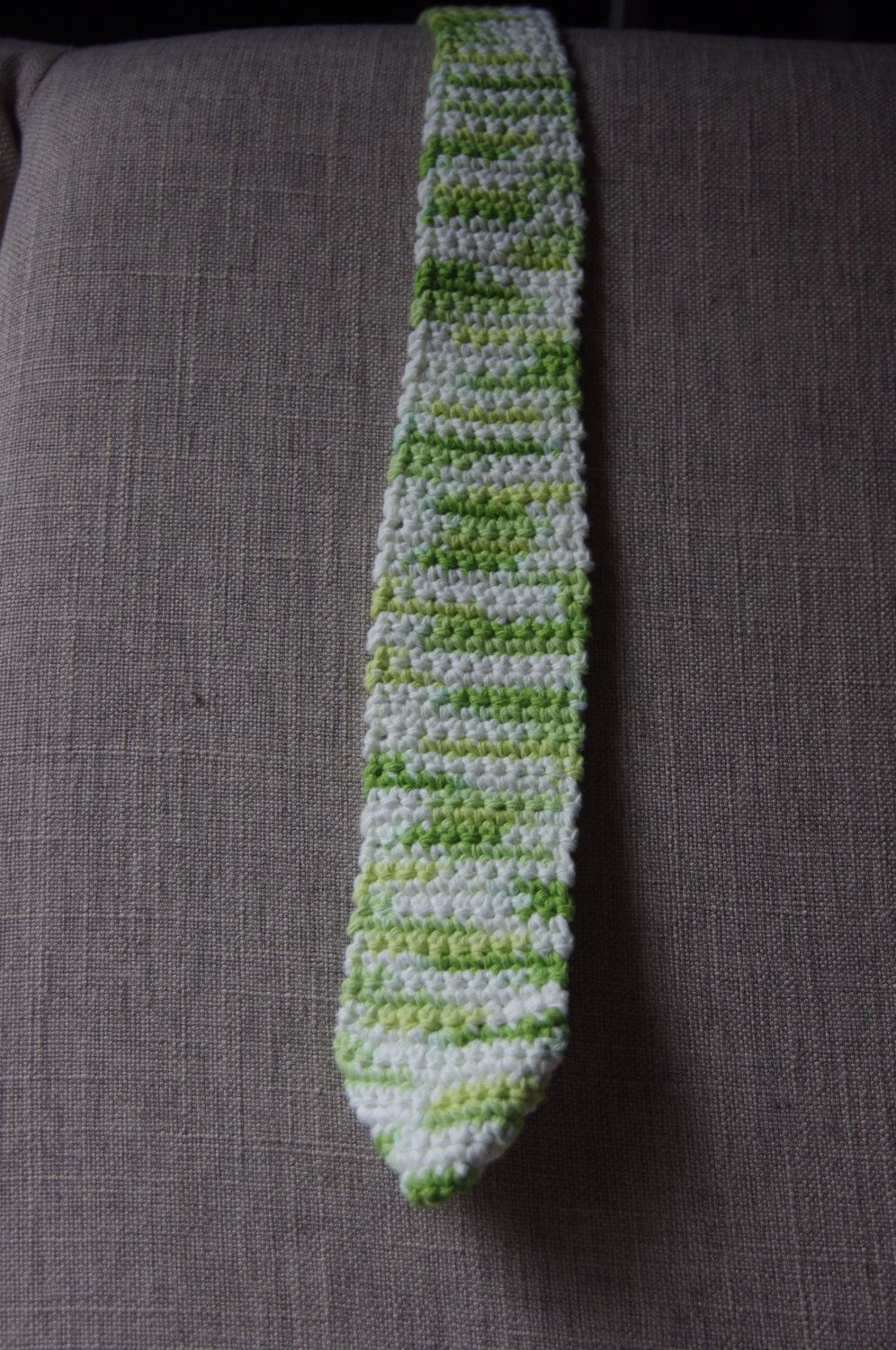 A personal favorite from my Etsy shop https://www.etsy.com/listing/260661664/mens-crocheted-tie-a-classic-with-a