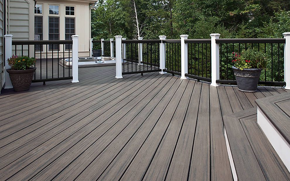 Trex Deck Design Ideas before after Trex Transcend Composite Decking And Railing Trex Island Mist