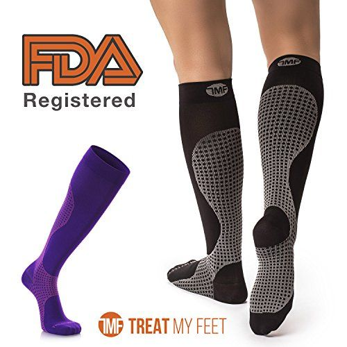 f4ca905d1 Compression Socks for Men & Women - Knee-high compression stockings relieve  calf, leg & foot pain Graduated to boost circulation & reduce edema  swelling, ...