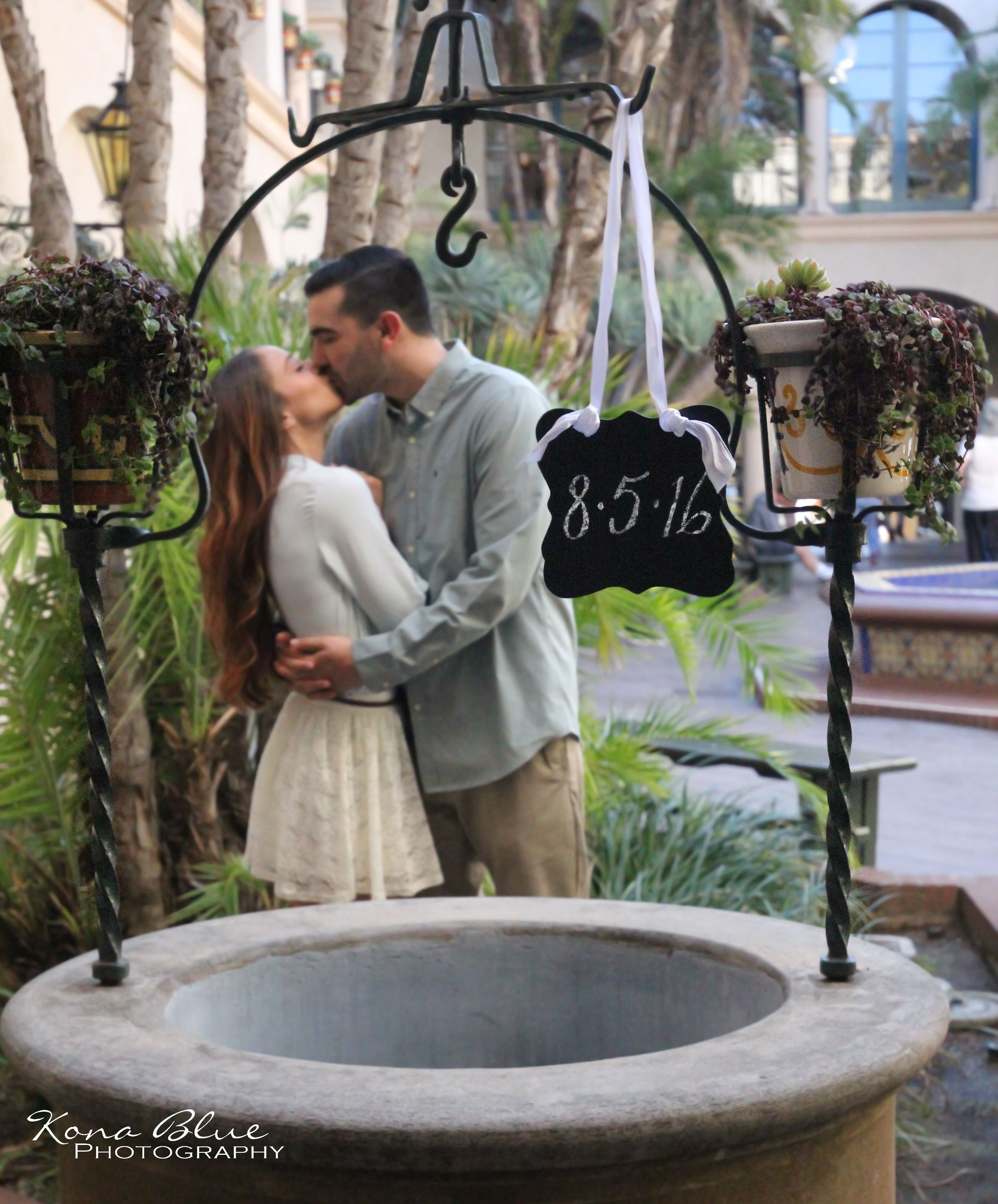 Engagement Save the Date photography ideas in Balboa Park San