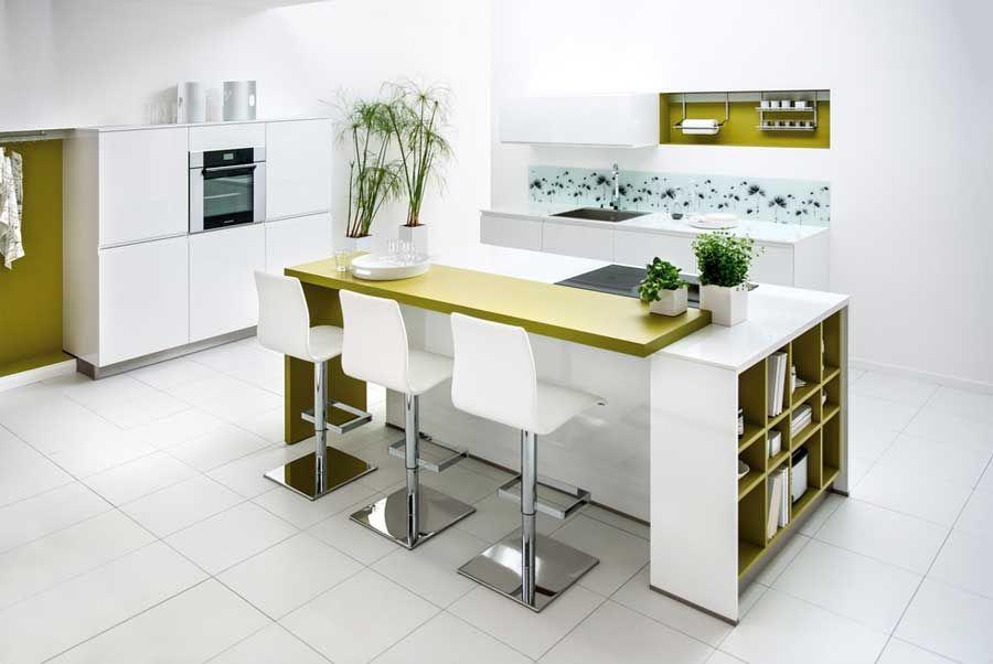 Funktionelle Kuchenmobel Ideen Kucheninsel Mit Tresen Moderne