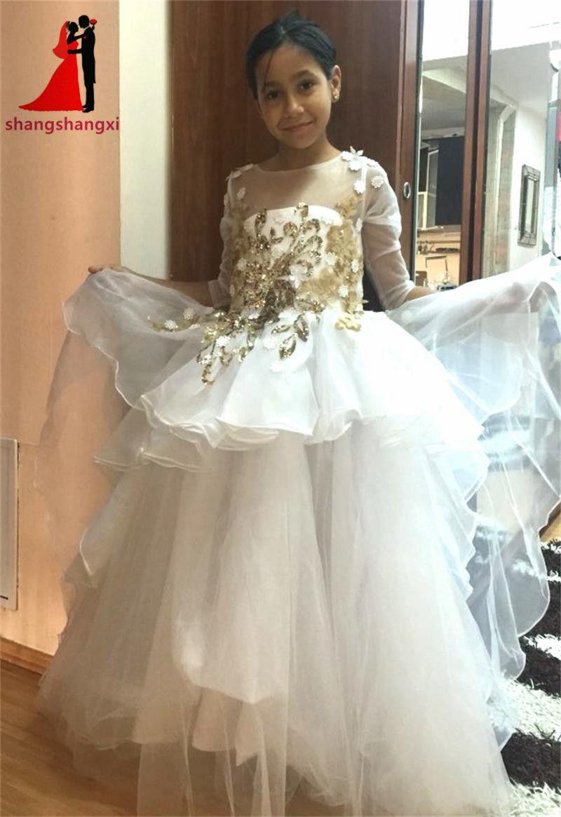 Click to buy 2017 long sleeves flower girl dresses for wedding click to buy 2017 long sleeves flower girl dresses for wedding first izmirmasajfo