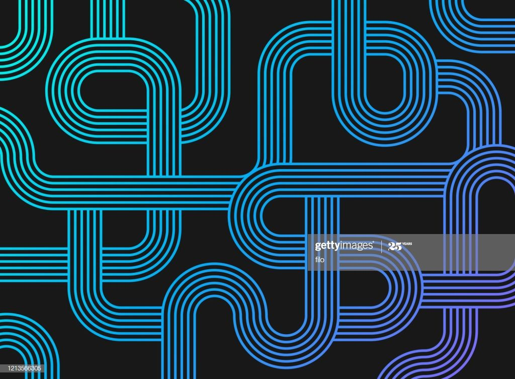 Maze path lines abstract gradient background pattern. в
