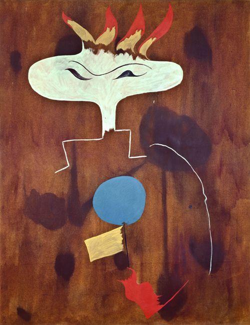 Miro 1925 Oil on canvas 146 x 114 cm / 57 1⁄2 x 44 9⁄10 ...