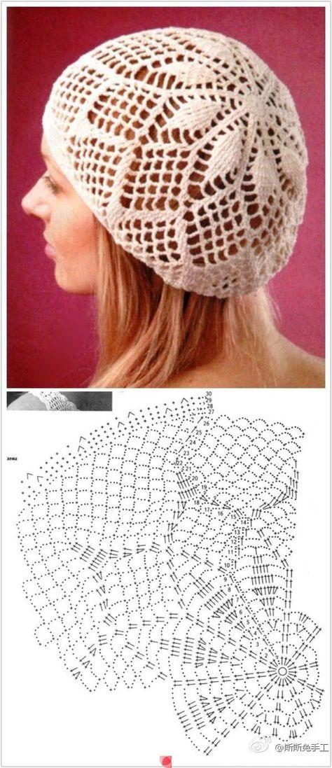 Patrón de Gorra de Crochet | หมวก | Pinterest | Patrones de crochet ...