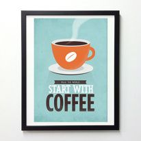 Coffee quote wall decor All you need is Coffee by NeueGraphic
