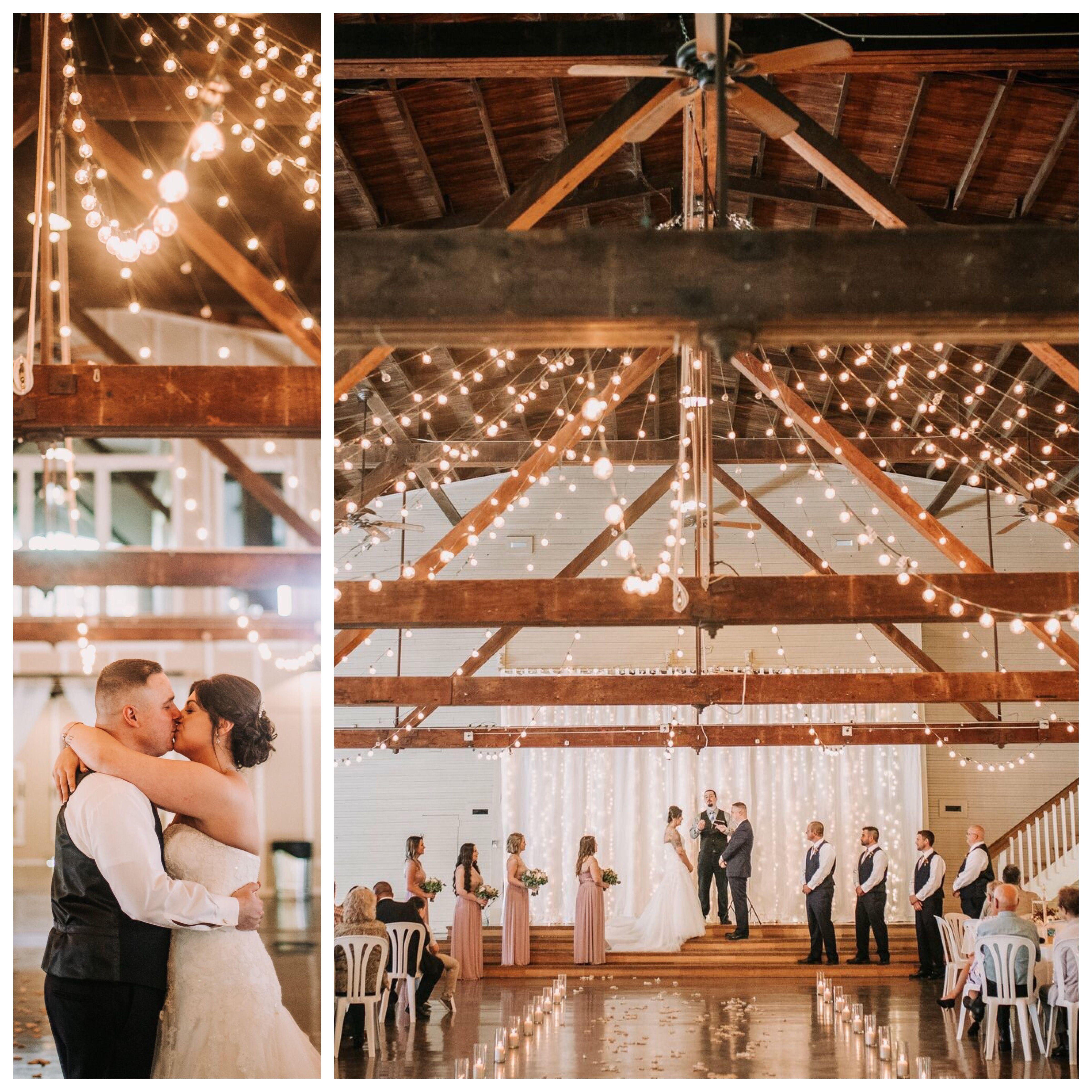 Indoor Barn Wedding Green Villa Barn Independence Oregon Light Strings Reception Wedding Venues Oregon Portland Oregon Wedding Oregon Wedding