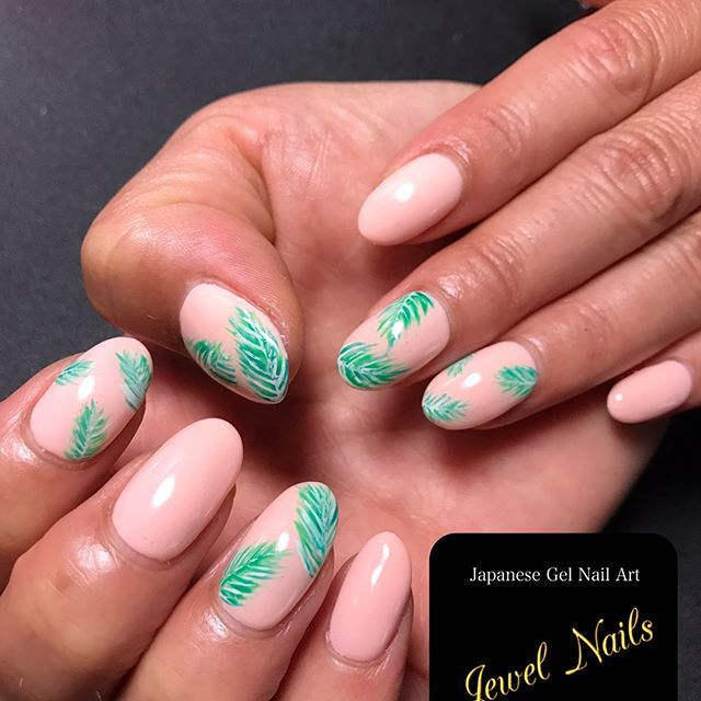 Hawaii trip nail Inspired by @oliveandoliverhawaii Japanese gel nail ...
