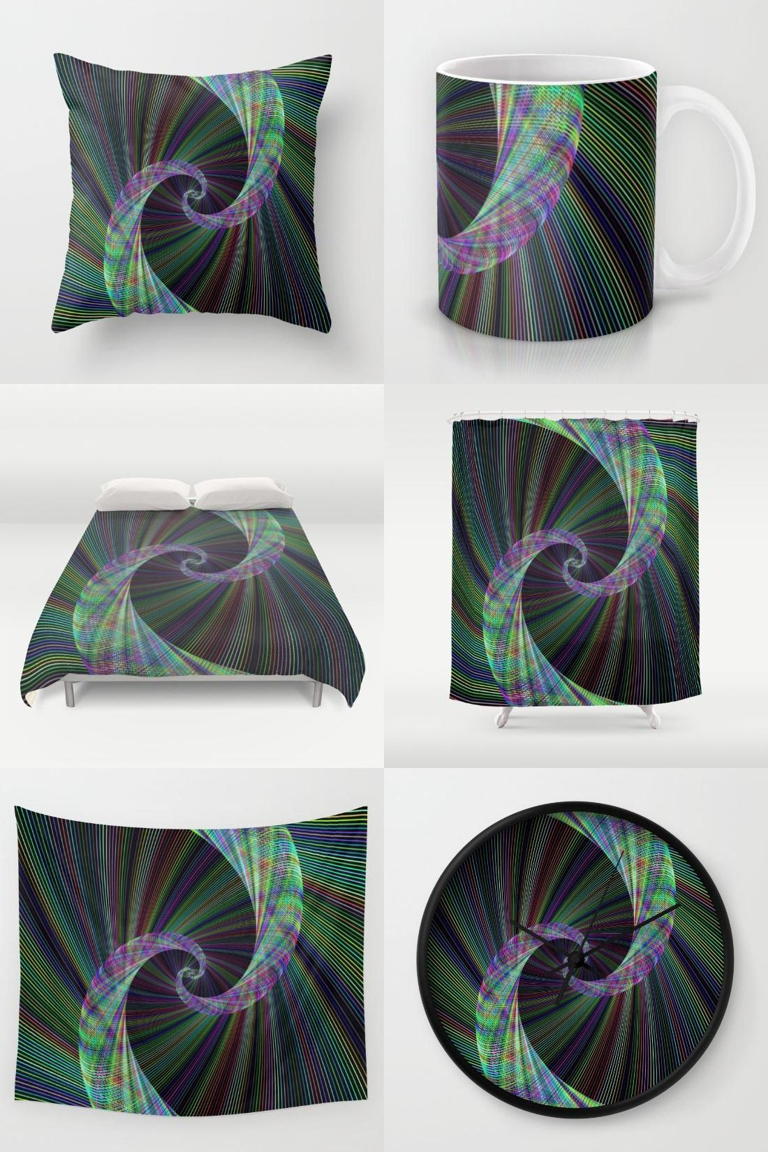 Wormhole home decor gifts throw pillow