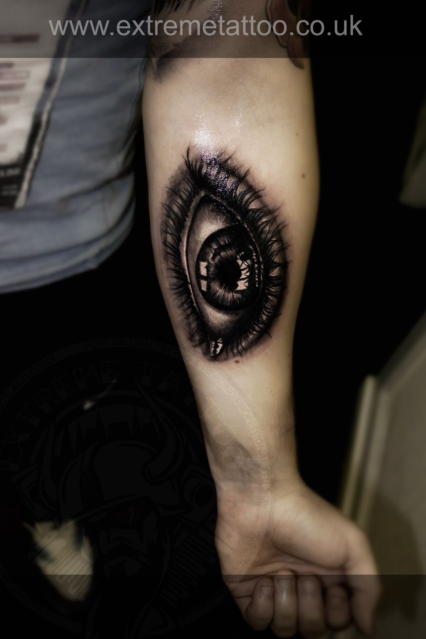 Eye tattoo,sleeve in progress,Gabi Tomescu.Extreme tattoo