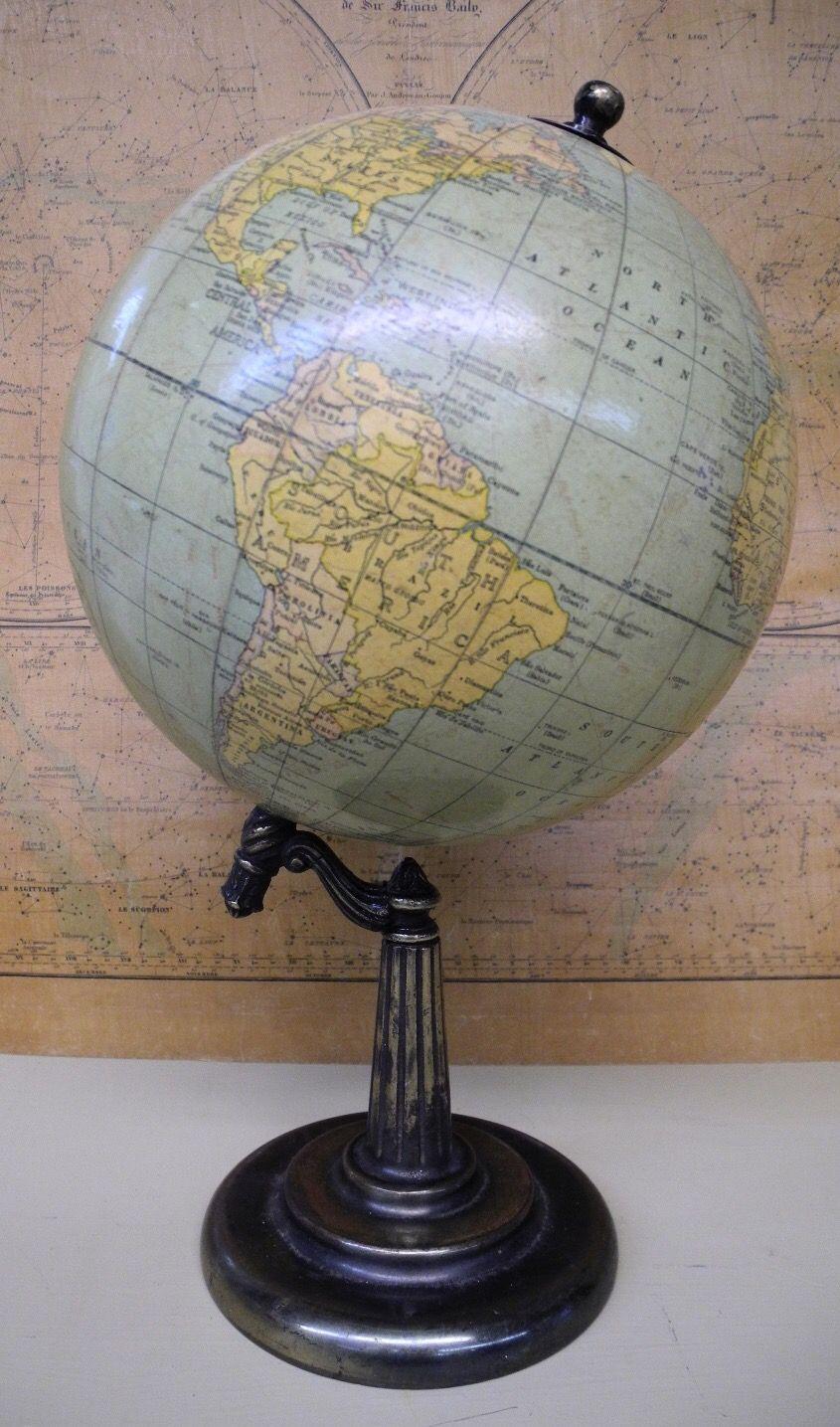 Map globe Extraordinary Decorative Brass Base