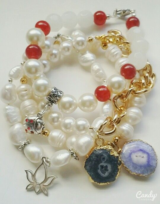 Pearls and geodes! Just exquisite...