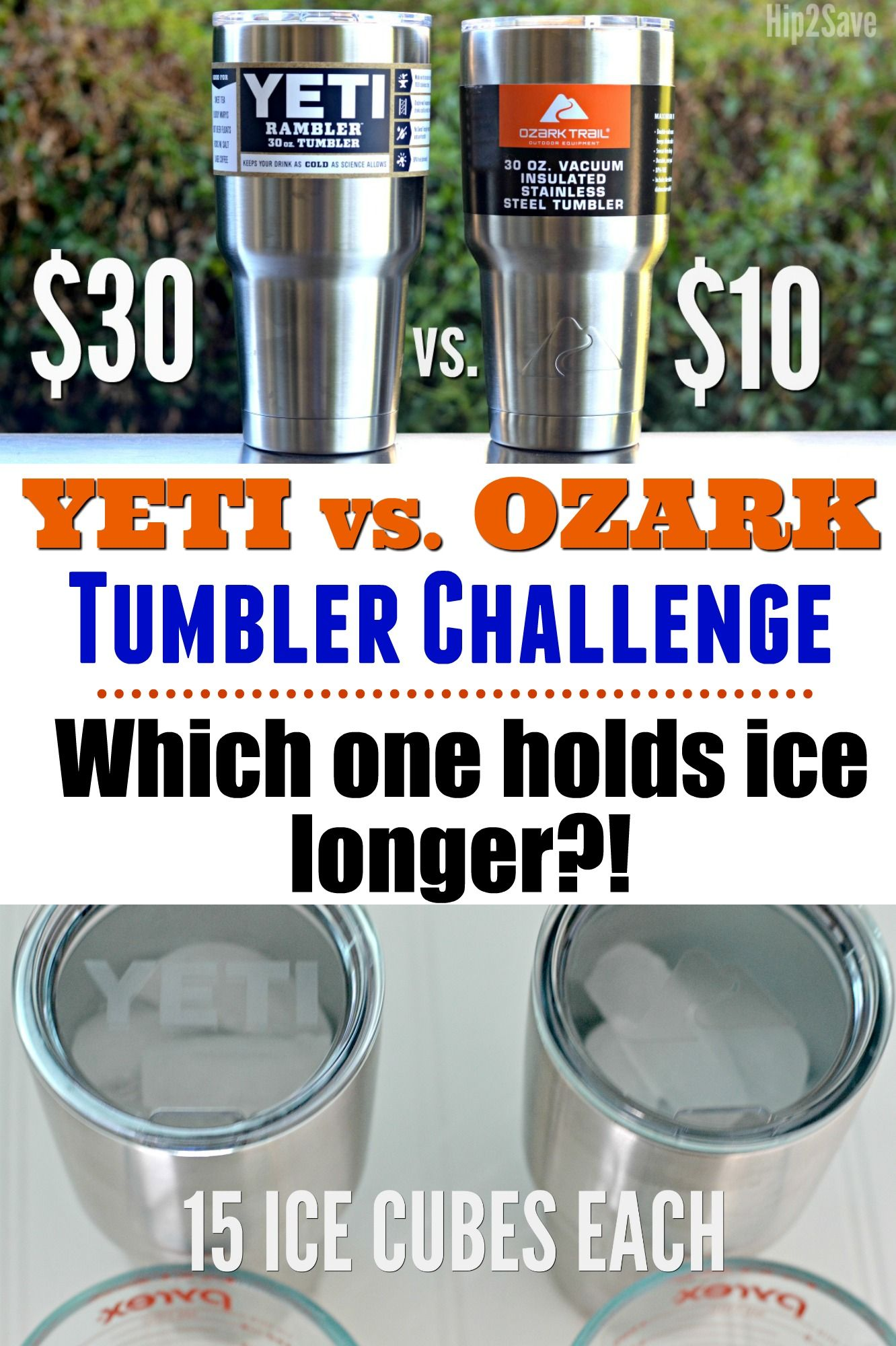 35387b4cf58 Yeti Vs. Ozark Tumbler Challenge | Best Of Hip2Save Tips, Recipes ...