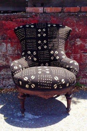 african mud cloth chair reupholstered at mignonnedecor com rh pinterest com
