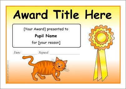Editable catthemed certificate templates SB9987 SparkleBox – Editable Certificate Templates