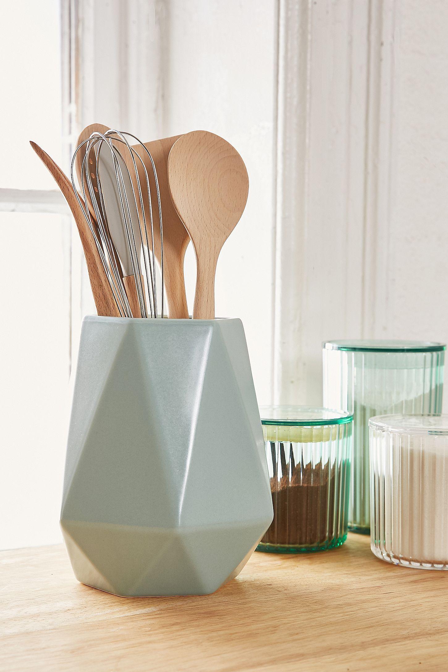 Faceted utensil holder in our new house pinterest utensil
