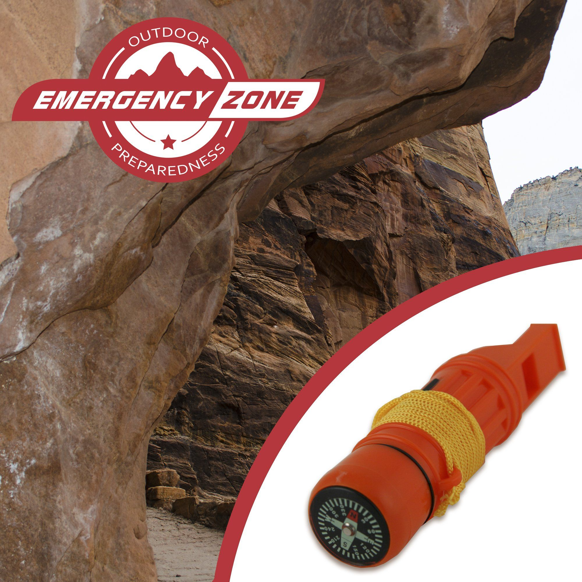5 in 1 Survival Whistle Emergency Zone Brand 1 3 and 30