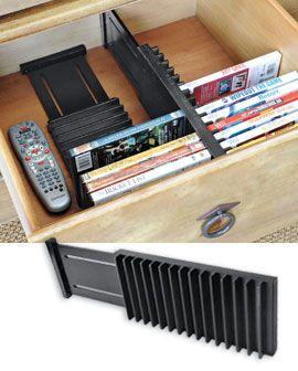 Expandable Dvd Drawer Organizer Dvd Drawer Storage