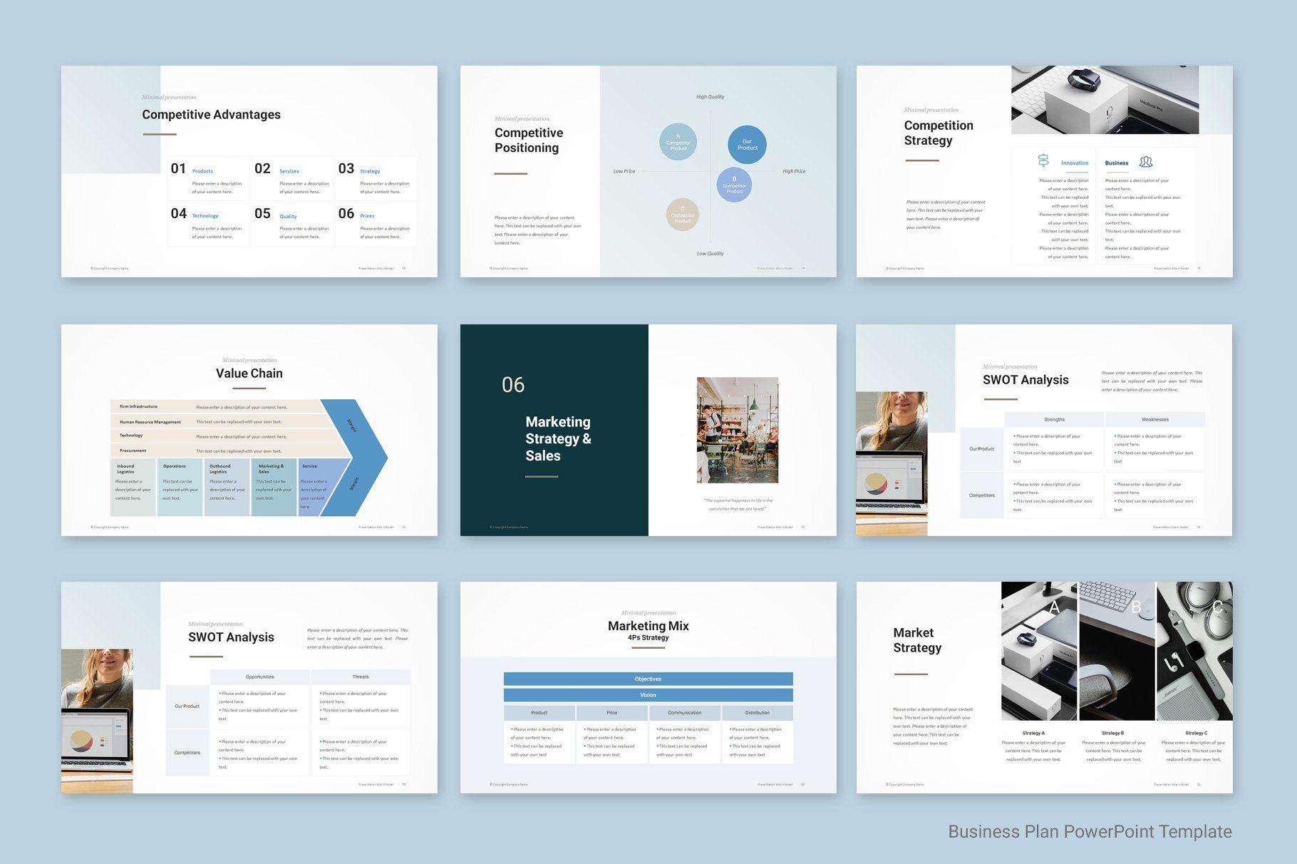 Business Plan Powerpoint Business Model Canvas Web Design Creative Typography Design