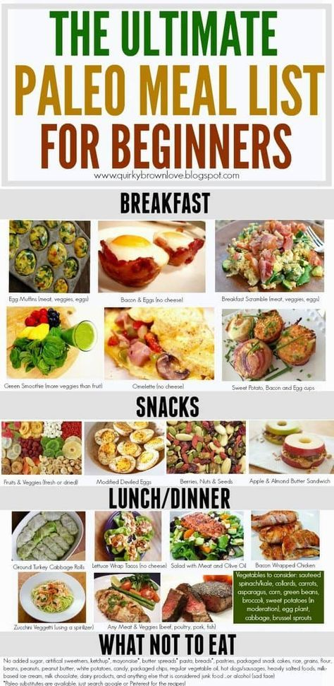 Paleo Diet Plan For Weight Loss Plus Simple Food Planner