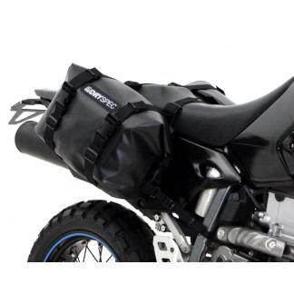 Photo of DrySpec D20 Waterproof Motorcycle Drybag Saddle Bag System in Black, Grey & Orange | 20L each, 40L Total – Dry Bags – Luggage & Racks – Shop by Product