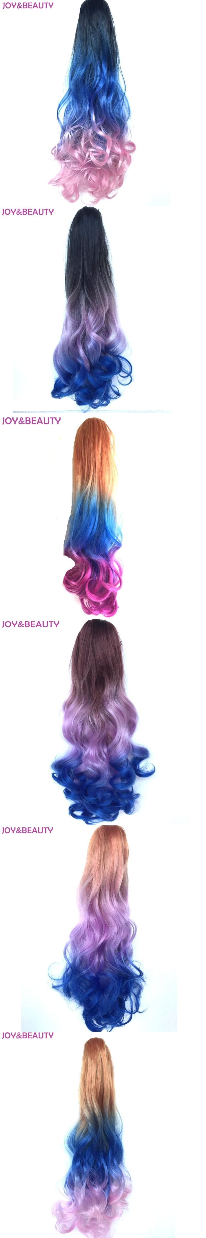 Joybeauty Hair Synthetic Wavy 3color Ombre Color Ponytail Extension
