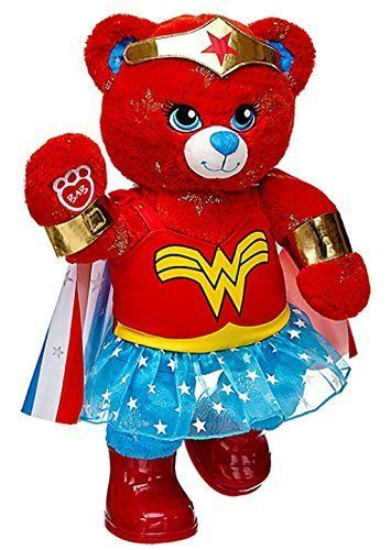 Build a Bear Warrior Wonder Woman Teddy with Cape Costume Outfit 16in. Plush  Toy  75f093ed1a
