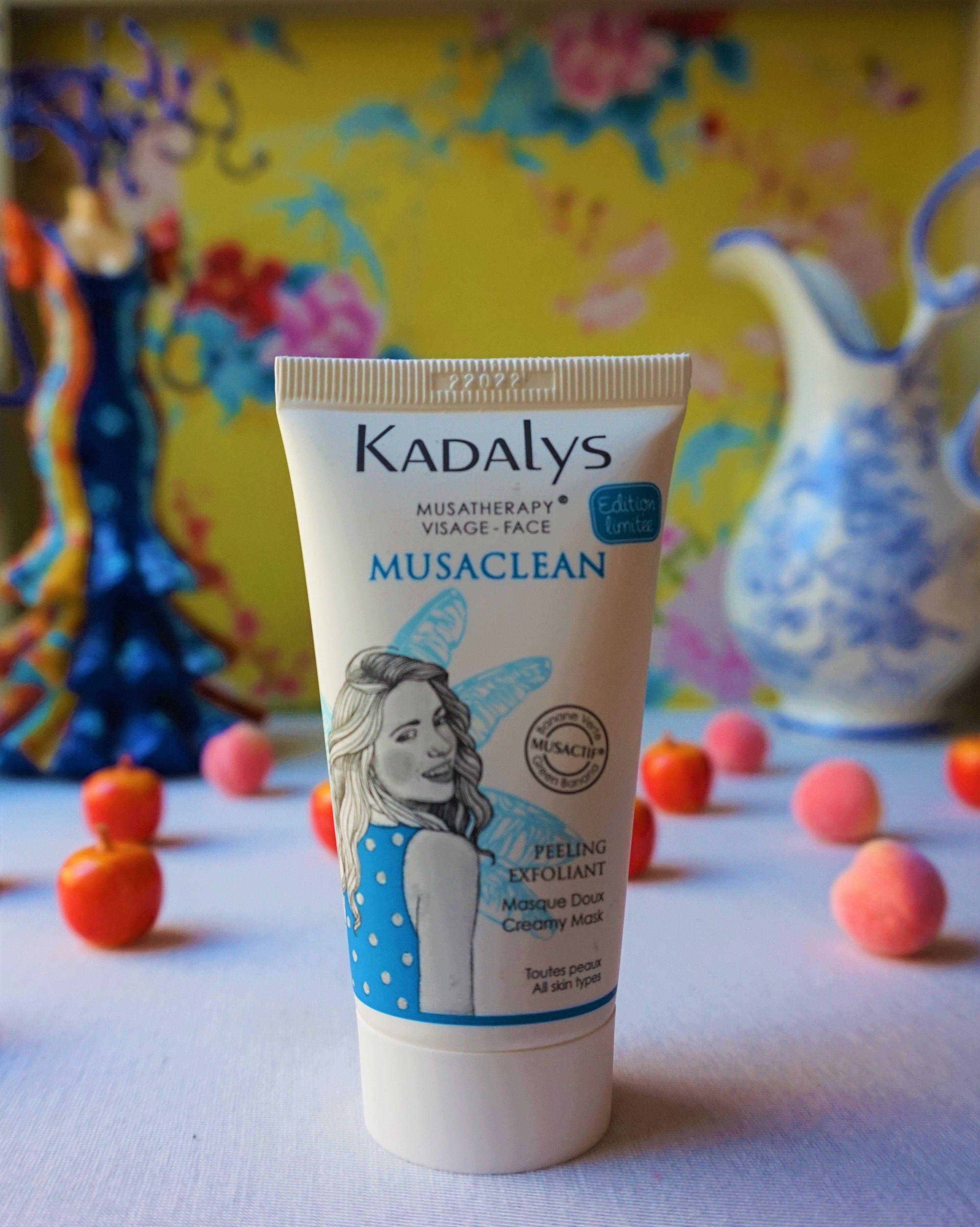 Revue masque peeling exfoliant Musaclean de Kadalys #blogueuse #cosmetiques #kadalys #peeling #skincare