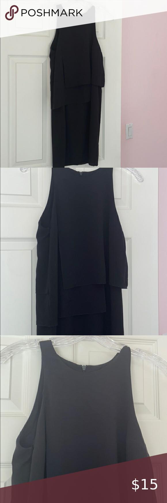 French Connection Black Dress French Connection Little Black Dress Zipper Back Asymmetrical Design Over T Dress Zipper French Connection Dress Clothes Design [ 1740 x 580 Pixel ]