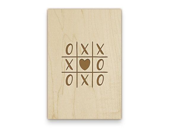 Postkarte aus Holz XOXO Love mit Deinen von DecoWizards auf Etsy