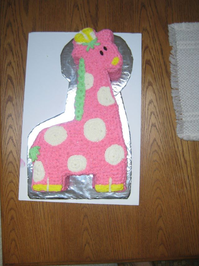 clever baby shower invitation wording%0A Baby Shower Invitation Wording Examples   Pink Giraffe Baby Shower Cake
