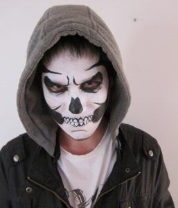 21 Halloween Makeup Ideas For Men | Black white halloween ...