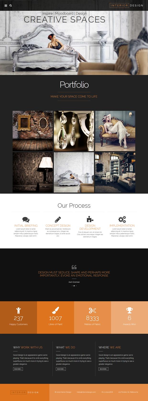 7 beautiful interior design bootstrap themes webdesign inspiration rh pinterest com
